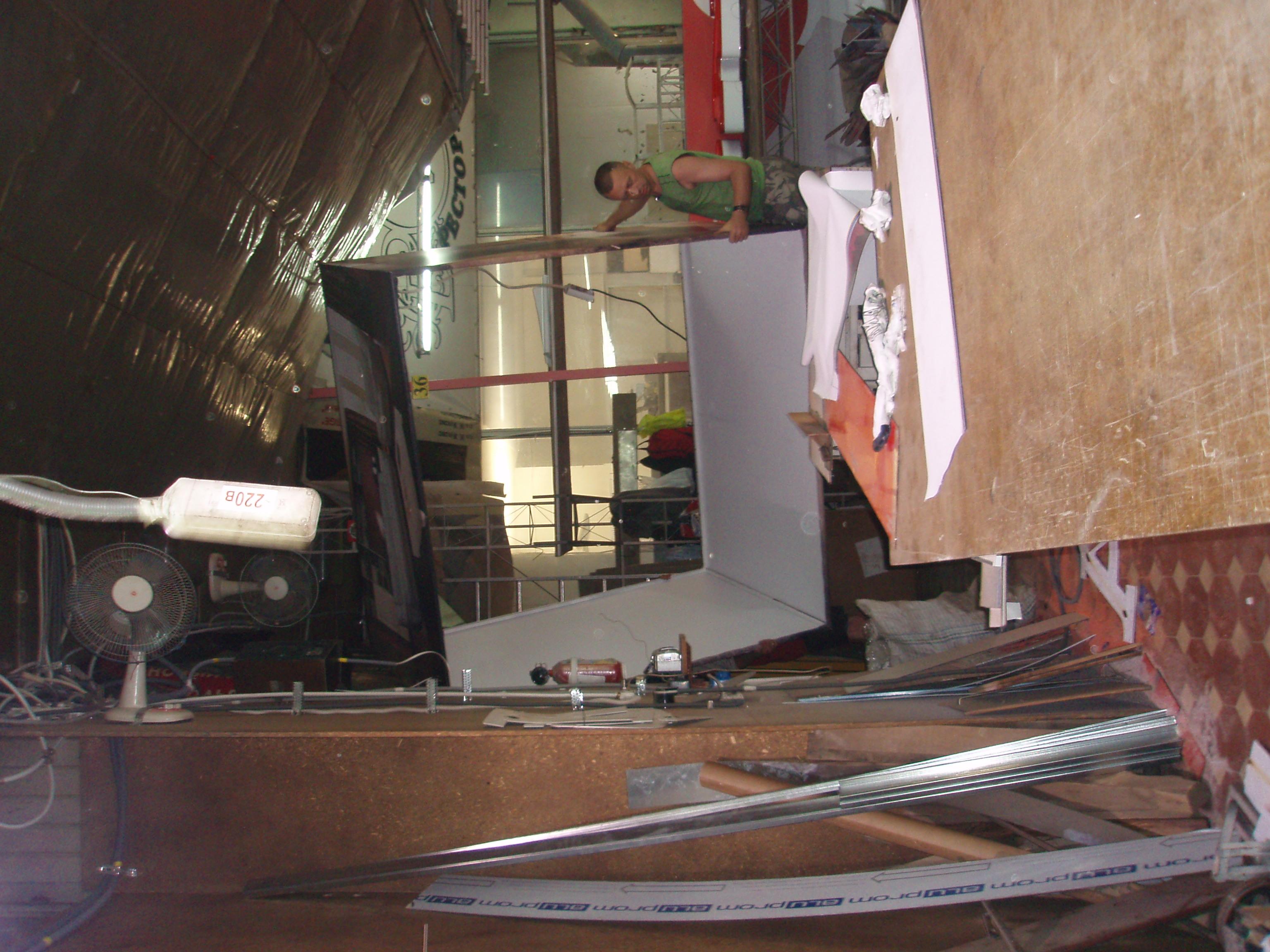 Банерный куб в мастерской